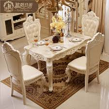 high end dining furniture. The Marble Dining Table Set Ottoman Chair Room Furniture By High-end European Antique High End I