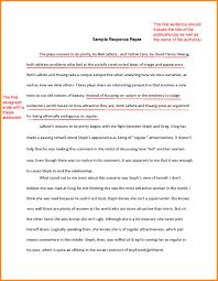 Summary Response Essay Example Personal Response Essay Examples