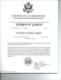 Promotion Certificate Template Army Enlisted Promotion Certificate Template Us Officer Radioretail Co