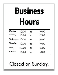 printable store hours sign sign template word email up printable sheet grocery store sale flyer