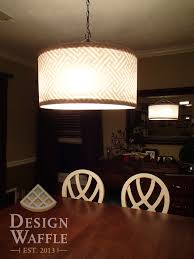 beautiful drum chandelier for lighting ideas diy chandelier drum shade for your best dining room