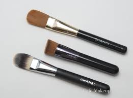 shiseido s new perfect foundation brush reviewed here and chanel s new foundation brush i