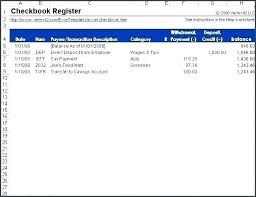 Free Excel Checkbook Register Bank Reconciliation Template Budget