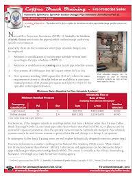 Fire Sprinkler Designer Training Coffee Break Training Fire Protection Series Manualzz Com