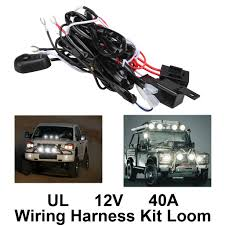 remote control wiring harness kit switch relay led light bar fuse can wire two lights meanwhile universal wire harness compatible most automotive led work lights can be connected to 2 led lamps instead of 1