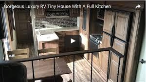 tiny house fridge. Https://www.tinyqualityhomes.org/beautiful-rv-tiny-house-with-large-kitchen/ Tiny House Fridge