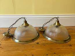brass effect 5 light ceiling fitting by