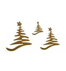 Edelrost Christbaumschmuck Weihnachtsbaum 3er Set