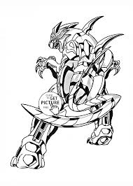 Tigrerra Bakugan Coloring Page For Kids Manga Anime Coloring Pages