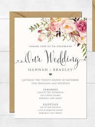 best 25 printable wedding invitations ideas on pinterest Pink And Green Wedding Invitation Templates 16 printable wedding invitation templates you can diy Printable Wedding Invitation Templates