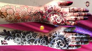 Black And Red Mehndi Designs Be You And Beauty Youtube