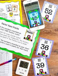 Race Codes Chart Factor Race Game With Finding Factors Lesson Includes Qr Codes