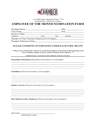 Employee Of The Month Nomination Form Template Rome