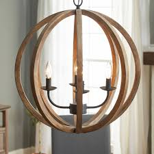 metal and wood chandelier. Stanton 4-Light Candle-Style Chandelier Metal And Wood W