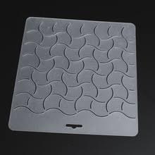 54 Piece Set Acrylic Quilt Templates & Semi-transparent Quilting Stencil with Wave Pattern Adamdwight.com