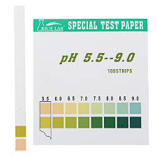 Ph Color Chart Precision Ph Test Strips Short Range 5 5 9 0 Indicator Paper Tester 100 Strips Boxed W Color Chart