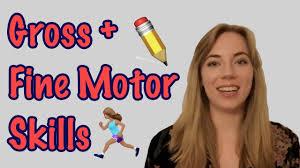 gross motor and fine motor skills