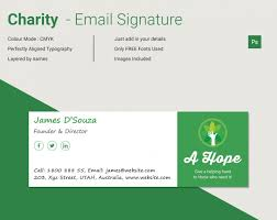 Email Signature Html Modern Charity Html Email Signature Free Premium Templates