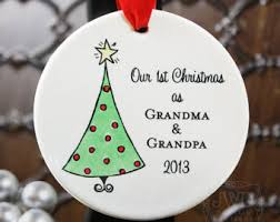 Personalized Grandma and Grandpa Ornament First Christmas as Grandparents  Ornament Personalize with Grandparents Names - Item