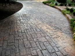 Patterned Concrete Awesome Stamped Concrete Driveway How Much Do They Cost Are They Better