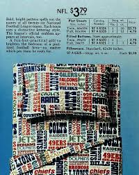national football league sheets sears spring catalog nfl bedding queen set full size vintage s from s bedding set