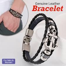 Nilanjan Arts <b>New Genuine Leather</b> Bracelet For <b>Men</b> & Women ...