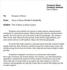 Memorandum Sample Business Company Letter Template Cooperative Also ...