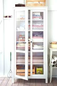 tall cabinet with glass doors white door furniture unpolished birch wood narrow storage cupboard