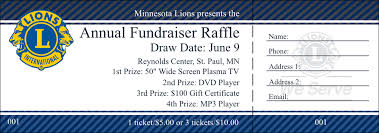 Raffle Tickets Printing Lions Club Raffle Ticket