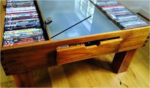 dvd storage coffee table beautiful with