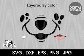 Emoji icons and vector packs for sketch, adobe illustrator, figma and websites. Dog Nose Cut File For Face Mask Graphic By Toon Forest Creative Fabrica