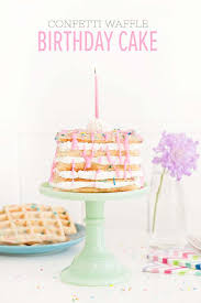 The Best Confetti Waffle Birthday Cake Sprinkles For Breakfast