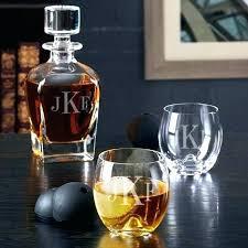 engraved whiskey decanter set whisky personalized engraved whiskey decanter set lexington and glasses