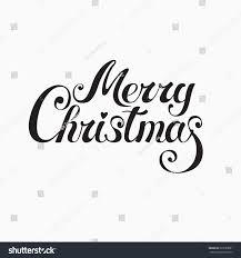 Merry Christmas Banner Print Merry Christmas Handwritten Vector Lettering Card Stock Vector