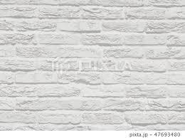 白いシンプルなレンガテクスチャの壁面背景素材のイラスト素材 47693480
