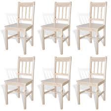 Esszimmerstühle 6 Stk Holz Natur