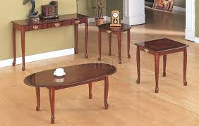 side table cherry finish great cherry wood finish traditional classic coffee table set pertaining to cherry