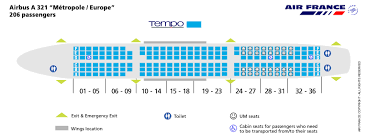 Aircraft A321 Seating Chart Air France Airlines Airbus A321 Aircraft Seating Chart