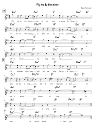 Fly Me To The Moon Gmajor Sheet Music For Voice Download