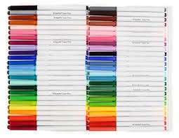 Crayola Supertips 50 Color Chart Crayola Super Tips Markers 2015 Whats Inside The Box 20