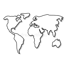 World Map Black And White Outline Maps Of World