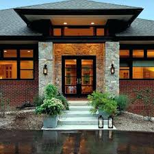Modern House Front Entrance Designs Ranch Home With Hip Roof And ...