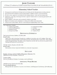 Template Examples Of Resumes For Teachers 100 Images 2016 2017