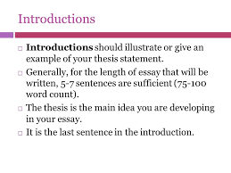 writing an introduction to a thesis writing visual analysis essay how do i start my thesis introduction