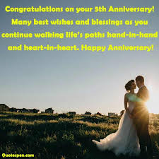 5th wedding anniversary wishes es