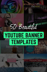 50 Beautiful Youtube Banner Templates Edit And Download