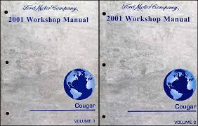 mercury cougar wiring diagram manual original 2001 mercury cougar repair shop manual 2 volume set original