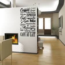 COFFEE KITCHEN QUOTE VINYL WALL DECAL STICKER ART-REMOVABLE WORDS HOME  DECOR $20.95