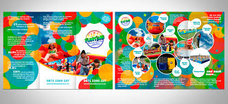 Mini Brochure Design Playful Personable Entertainment Brochure Design For Funtime