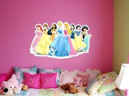 disney wall paint comely princess bedroom ideas for twin girls with princess wall decal also pink